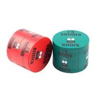 Vente en gros Logo de haute qualité Logo Personnalisé Alliage de zinc 63mm 4 Pièces Colorful Tobacco Tobacco Herb Grinder Couleur aléatoire