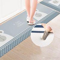45 * 75 см Домашние ковры ПВХ напольные ковры для спальни Гостиная Коврики Кухонные нефтепродукты для ванной комнаты Водонепроницаемый Нескользящий коврик DBC DH1122