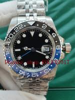 Montres de luxe Haute Qualité II Black Bleu Cadran Bracelet en acier inoxydable Montre Men's Montre Automatisation Acier inoxydable 316 GMT Datejust