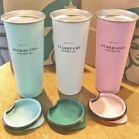 Novo Taça de Café de Aço Inoxidável de 16oz Starbucks com tampa, Starbucks Vários estilos de balão de vácuo, DHL