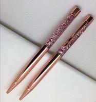 تصميم الأزياء الإبداعية الكريستال القلم الماس حبر جاف القلم القرطاسية ballpen stylus touch 14 ألوان الملء الأسود الزيتية
