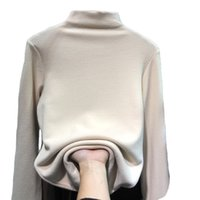 New Autumn Womens Half High Collar Pullover Ladies Sweet Slim Sweater Women Long Sleeve Color Hoodie With Plus Size M-3XL