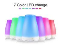 100 ml di diffusore di olio essenziale umidificatore aroma umidificatore 7 colori LED luce notte diffusore ad ultrasuoni fresco nebbia fresca aromaterapia