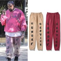 Kanye West Sunday Service Fleece Sweatpants Männer und Frauen Kordelzug Hip Hop Lose Casual Hose Harajuku Übergröße Baggy Hose X1228