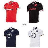 2020 2021 Pays de Galles Écosse Jersey de rugby 20 21 Home Awall Gallois Taille S-3XL T-shirt écossais Maillot Camiseta Maglia Top Qualité