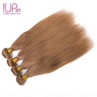 Brésilien Malaisien Indian Combodian Cheveux Humains Couleur Couleur 27 Cheveux humains Tisser les cheveux vierges Peruvian Teins droites 4 Bundles Hiar Iupin