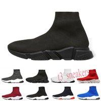 Balenciaga Speed Trainer calcetín zapatos para caminar Negro Blanco Rojo velocidad entrenador deportivo zapatillas de deporte superiores para hombre zapato casual 36-47 T30