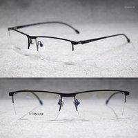 Uomini primavera cerniere in lega di titanio in lega occhiali da vista mezza rimless occhiali rx abili occhiali da prescrizione di occhiali da vista1