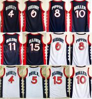 1996 الولايات المتحدة حلم ثلاثة كرة السلة 11 كارل مالون جيرسي الرجال البحرية الأزرق الأبيض 5 غرانت هيل 10 ريجي ميلر 4 تشارلز باركلي