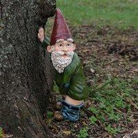 Résine Naughty Gnome Gnome Christmas Dress Up Décorations intérieures ou extérieures Gnome Noël Gnome Diy Jardin Décoration NaRF 201201