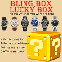 Bling Box Mens Часы Lucky Box Lady Часы Случайный карманный сюрприз слепой коробок Lucky Bag подарочная упаковка Montre de Luxe автоматические