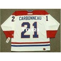 Мужские # 21 парень Cookneau Montreal Canadiens 1993 CCM Home Hockey Jersey или пользовательское имя или номер ретро Джерси
