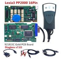 كود القراء أدوات مسح أسبانيا في الخارج! Lexia3 / PP2000 16Pin DiagoBox V7.83 مع البرامج الثابتة 921815C Golden PCB for / Obdii Diagnostic-Tool1
