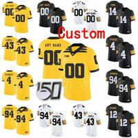 Personalizzato Iowa Hawkeyes College Football Jersey 10 Mekhi Sargent 12 Brandon Smith Ricky Stanzi 14 Desmond King Men Donne Gioventù Cucita