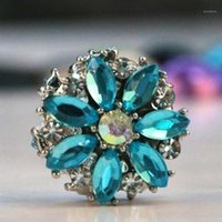 Fashion strass fleur broches broches écharpe boucle métal musulman tête de musulme abaya khimar magnétique hijab écharpe11