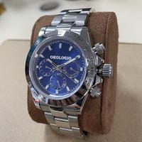 2021 Relojes para hombre Japón VK Cronógrafo Cuarzo Cuarzo Reloj automático Completo Acero inoxidable 5atm Impermeable Super Luminoso 42mm Montre de Luxe
