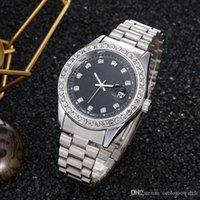 Relogio masculino diamante mens relógio moda preto calendário calendário ouro pulseira dobrável fecho master macho 2021 presentes casais1
