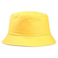 2019 جديد المحمولة أزياء مثير بلون قابلة للطي الصياد قبعة الشمس في الهواء الطلق الرجال والنساء دلو قبعة متعددة الموسم كاب f jllbmg