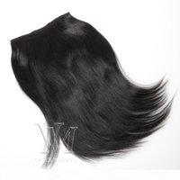 VMAE 160G مقطع في 12 إلى 26 بوصة 100٪ الشعر البشري البرازيلي Yaki اللون الطبيعي غير المصنعة الشعر البشري