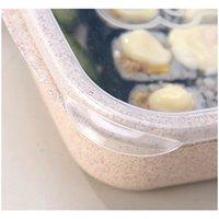 3 그리드 밀 짚 점심 상자 마이크로 웨이브 벤토 박스 식품 학년 건강 점심 상자 학생 휴대용 과일 식품 Sto Jllhmz Garden_Light