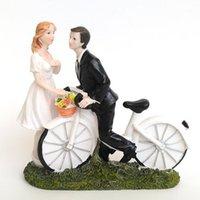 2014 Nouveau bicyclette Kiss - Couple personnalisé Cake Cake Topper Topper Outils de décoration Mariée Mariage Mariage Topper1