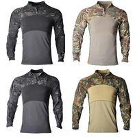 Set di caccia Camouflage Camouflage camicie tattiche all'aperto escursionismo esercito americano combattimento da combattimento uniforme camicia cargo multicam paintball vestiti