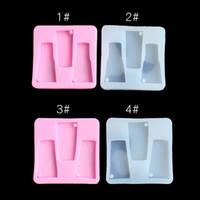Epoxi resina de silicona botella de molde de dos cuadrado del color crema batida de la jalea de la galleta de la torta de la hornada moldes de jabón de arcilla hielo molde hecho a mano 3HL L2