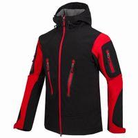 2020 새로운 망 방수 Windstopper Softshell 남자 야외 하이킹 재킷 느슨한 봄 가을 겨울 코트
