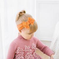 3 PCS / Set Imprimir Bebê Headband Bows Flor Recém-nascido Bebê Menina Headbands Elastic Kids Turban Hair Band Hair Acessórios
