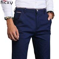 HCXY 2019 Autumn and Weintinter New Fashion Hombres gruesos Hombres Pantalones casuales para los pantalones de los hombres Hombre de alta calidad más pantalones de trabajo de terciopelo Macho T200102