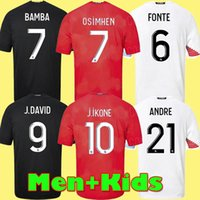 Bambini adulti Kit Losc Lille 2020 2021 Soccer Jerseys Remy Fonte Bamba Yaziemi Camicia da calcio 20 21 21 Lille Olympique Jikone Maillot deley