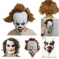 Хэллоуин ужасный колдун клоун маска латекс полная лицевая маска для Masquerade Halloween Party Escape одеваются партия маска для взрослых T200116