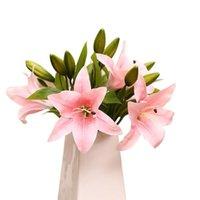 الزهور الزهور أكاليل 3 رؤساء الديكور فراشة الأوركيد فالاينوبسيس الاصطناعي اللاتكس بساتين الفاكهة زهرة لجمال الزفاف المنزل