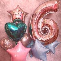 """40 """"Giant Foil Numbers Balloon 40 pollici Big 0-9 numeri float palloncini oro gradiente rosso per la festa di compleanno nozze anno nuovo decorazione E122301"""