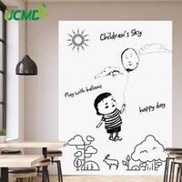 Diy السبورة ملصق erasable ذاتية اللصق لوحة بيضاء للإزالة الرسم الكتابة رسالة المجلس ل مكتب المدرسة ديكور المنزل 201009