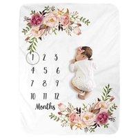 1 PC Baby Milestone Blanket Flannel Newborn Photo Photo Pop Showdrop con grafico di crescita mensile per ragazza e ragazzo LJ201204