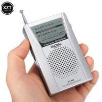 BC-R60 Pocket Radio ANTENNA MINI AM / FM Ricevitore mondiale a 2 bande con altoparlante 3.5mm Auricolare Jack Portable1