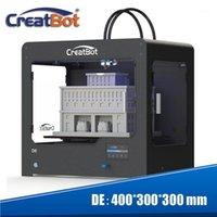 Creatbot 3d الطابعة المزدوج الثلاثي الطارد 400 * 300 * 300 ملليمتر الإطار المعدني الصناعية مساحة الطباعة الكبيرة آلة دي شحن مجاني 1