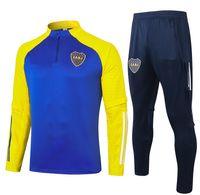 20 21 Boca Juniors Tracksuit Men Soccer Tracksuit Tuta a manica completa Tuta da calcio Vestito 2020 2021 Boca Felpa e Pantaloni De Rossi Tevez Set
