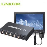 Connecteurs de câbles audio Lien pour 1x4 SDI Splitter 1 entrée et 4 sorties prend en charge l'adaptateur SD / HD / 3G Extender 1080P 60Hz1