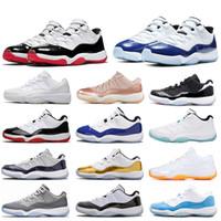 أحذية الأصلي النساء الرجال لكرة السلة 11 كونكورد السامية لألعاب القوى في الهواء الطلق الرجال 11S احذية UNC فوز مثل الحريرالأردنريترو