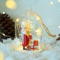 كرات الزجاج عيد الميلاد زينت هدايا شجرة عيد الميلاد زينت ديكورات المنزل شنقا الحلي خارج مطعم الباب 1
