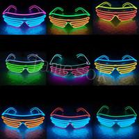 형광등 안경 파티 LED 안경 와이어 졸업 생일 파티 바 장식 빛나는 안경 분위기 소품 DB472