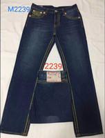 Hombres rectos pantalones vaqueros largos pantalones pantalones para hombre verdadera línea gruesa religión jeans ropa hombre casual lápiz pantalones azul negras pantalones de mezclilla 9328