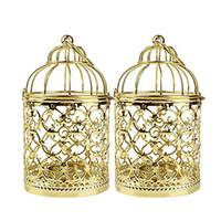 Plating candlestick color oro colore gabbia da gabbia a forma di candela per la casa Arredamento per la casa Prop Decorazione Della decorazione Candeliere Creative 11 8DH L1