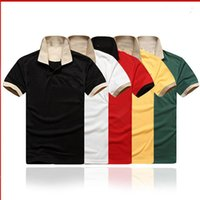 Diseñadores Hombre Polo Shirts Negocio Casual Tshirt Mens Manga Larga Rayada Slim Slim Masculina Social Male Camisetas Nueva Moda Hombre Checked Shirt