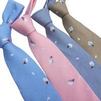 الرقبة العلاقات gravata الأزهار 7 سنتيمتر للرجال للرجل عارضة القطن سليم التعادل نحيل الزفاف ربطات العنق تصميم الرجال necktie1