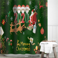 방수 크리스마스 커튼 2020 격리 크리스마스 욕실 커튼 매트 크리스마스 홈 장식 파티션 커튼 목욕 커튼 E103105 샤워