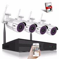 4CH Wireless CCTV System 720P HD NVR Kit esterno IR Night IP Telecamera IP WiFi Camera Security System Sistema di sorveglianza KITS1