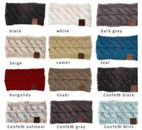 CC Hairband Sweatband Colorido Crochet Torça Headband Winter Faixa Elástica Elástica Acessórios largos
